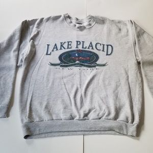 Vintage | Adks Lake Placid Souvenir Crewneck 90's